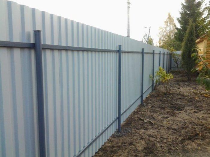 Забор из профлиста Магнитогорск